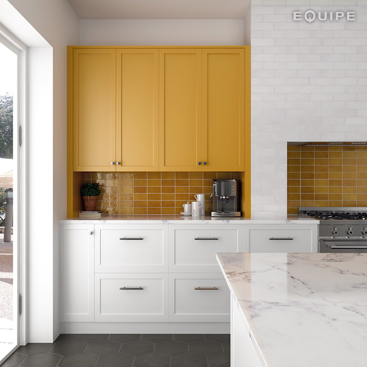 Equipe Ceramicas Kitchen Tiles Amber/Gold