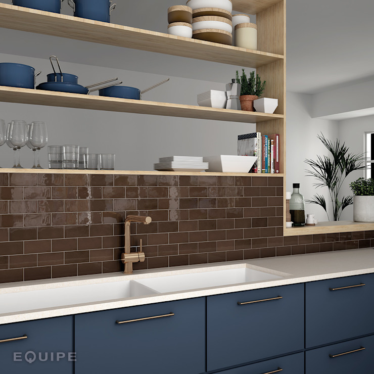 Equipe Ceramicas Kitchen Tiles Brown