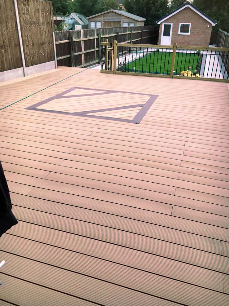 3D embossing composite decking board by Coowin Group Modern