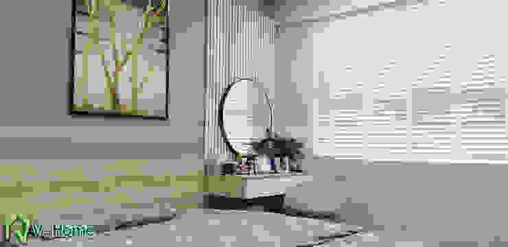 Bàn phấn phòng ngủ master: hiện đại  by Công ty CP tư vấn thiết kế và xây dựng V-Home, Hiện đại