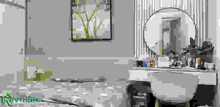 Phòng ngủ master: hiện đại  by Công ty CP tư vấn thiết kế và xây dựng V-Home, Hiện đại