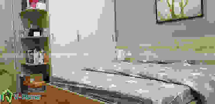 Nội thất phòng ngủ Master: hiện đại  by Công ty CP tư vấn thiết kế và xây dựng V-Home, Hiện đại