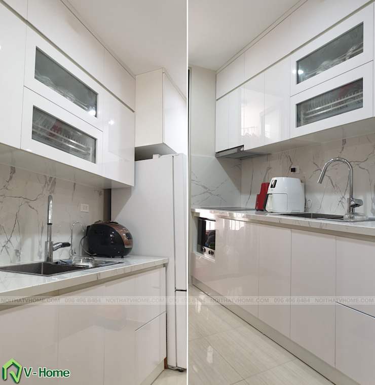 Không gian bếp: hiện đại  by Công ty CP tư vấn thiết kế và xây dựng V-Home, Hiện đại