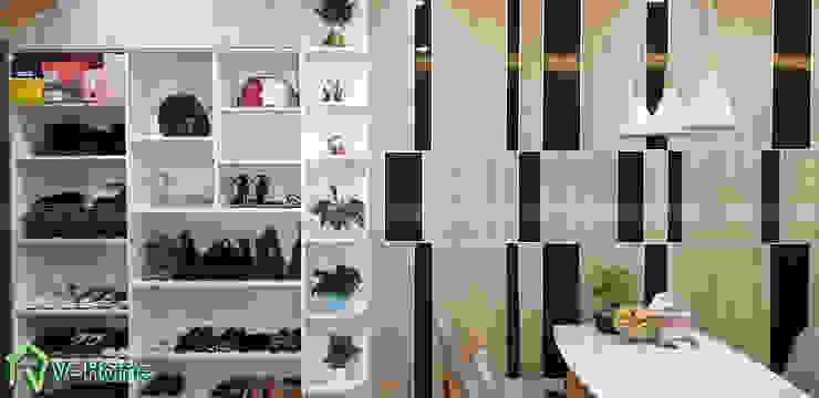 lam trang trí và hệ tủ đồ : hiện đại  by Công ty CP tư vấn thiết kế và xây dựng V-Home, Hiện đại
