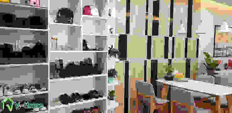 Không gian phòng khách: hiện đại  by Công ty CP tư vấn thiết kế và xây dựng V-Home, Hiện đại