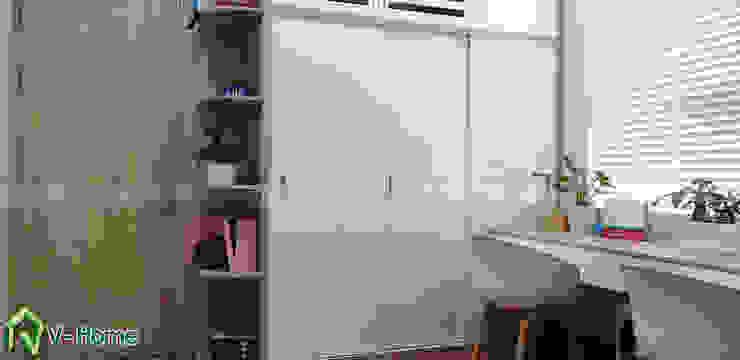 Tủ quần áo phòng cho trẻ: hiện đại  by Công ty CP tư vấn thiết kế và xây dựng V-Home, Hiện đại