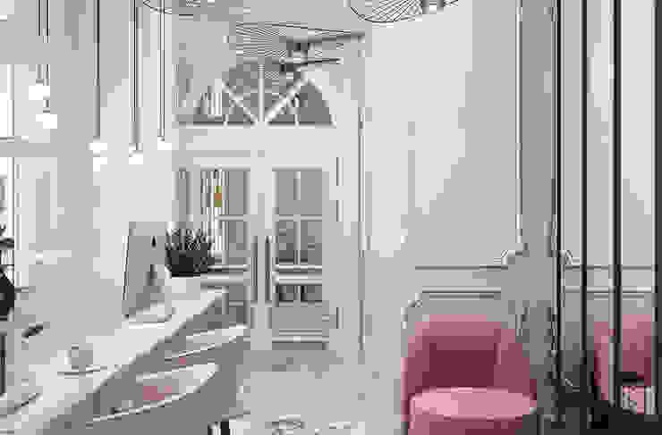 Couloir, entrée, escaliers originaux par U-Style design studio Éclectique