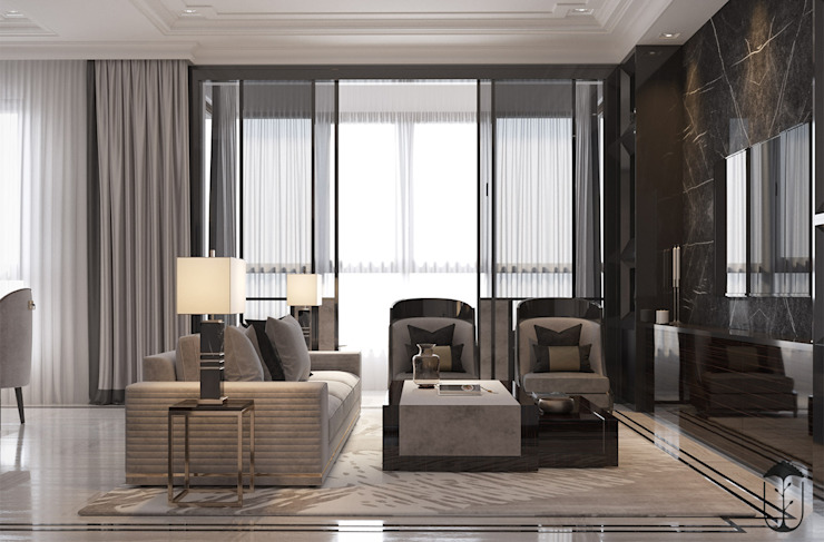 Salas de estilo clásico de U-Style design studio Clásico