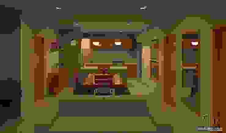 Interior Sala comedor cocina Salones modernos de Arq Eduardo Galan, Arquitectura y paisajismo Moderno