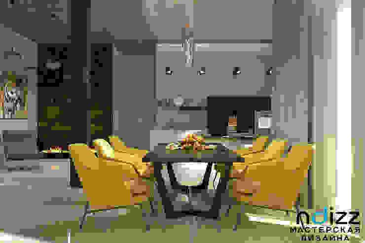 Interiors Столовая комната в стиле лофт от Мастерская дизайна INDIZZ Лофт