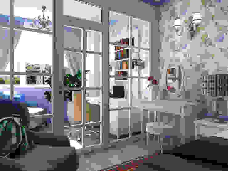 Дизайн квартиры в стиле Прованс от Студия Ольги Таракановой Эклектичный Дерево Эффект древесины