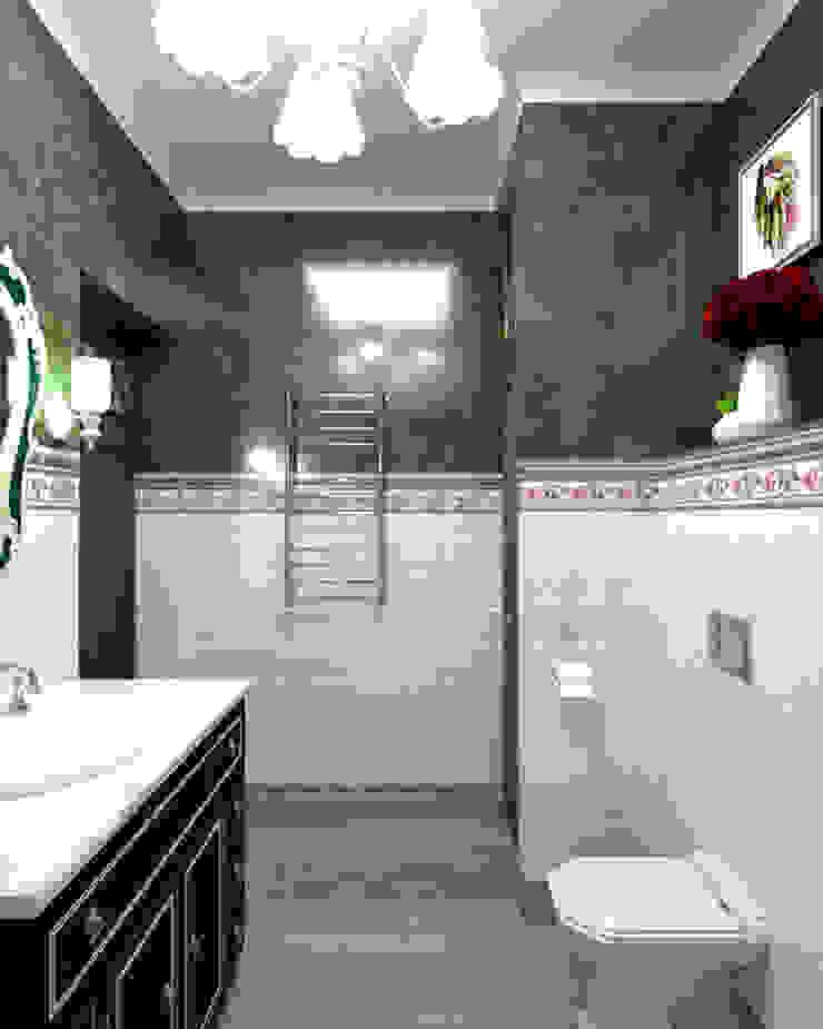 Дизайн квартиры в стиле Прованс Ванная комната в эклектичном стиле от Студия Ольги Таракановой Эклектичный Плитка