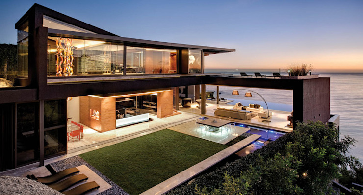 California Beach House :  Patios & Decks by Hector Landgrave, Modern