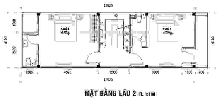 Thiết kế nhà đẹp diện tích 4x14m đẹp hiện đại bởi Thiết kế nhà đẹp ở Hồ Chí Minh