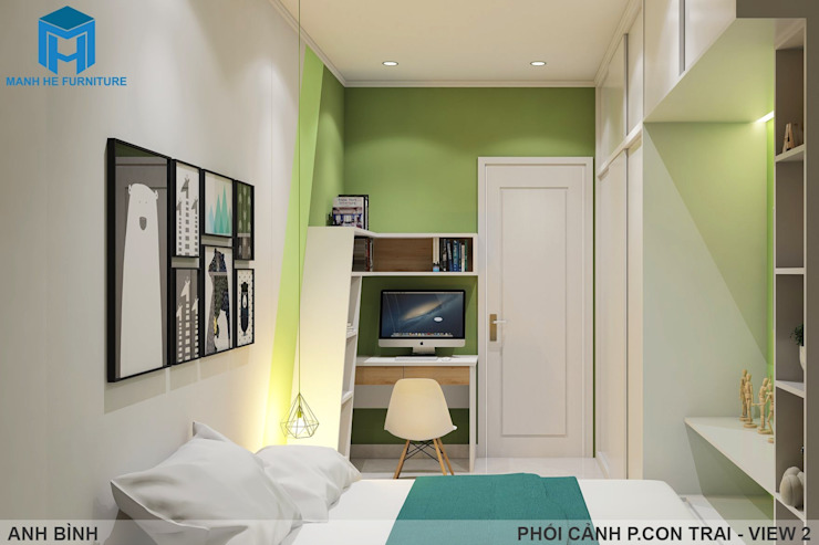 Designer Phòng trẻ em phong cách hiện đại bởi Công ty TNHH Nội Thất Mạnh Hệ Hiện đại MDF