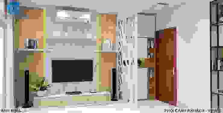 Designer bởi Công ty TNHH Nội Thất Mạnh Hệ Hiện đại MDF
