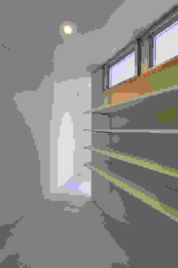 Couloir, entrée, escaliers modernes par プラソ建築設計事務所 Moderne