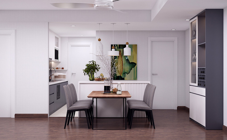 Scandinavian style dining room by Kiến trúc Doorway Scandinavian MDF