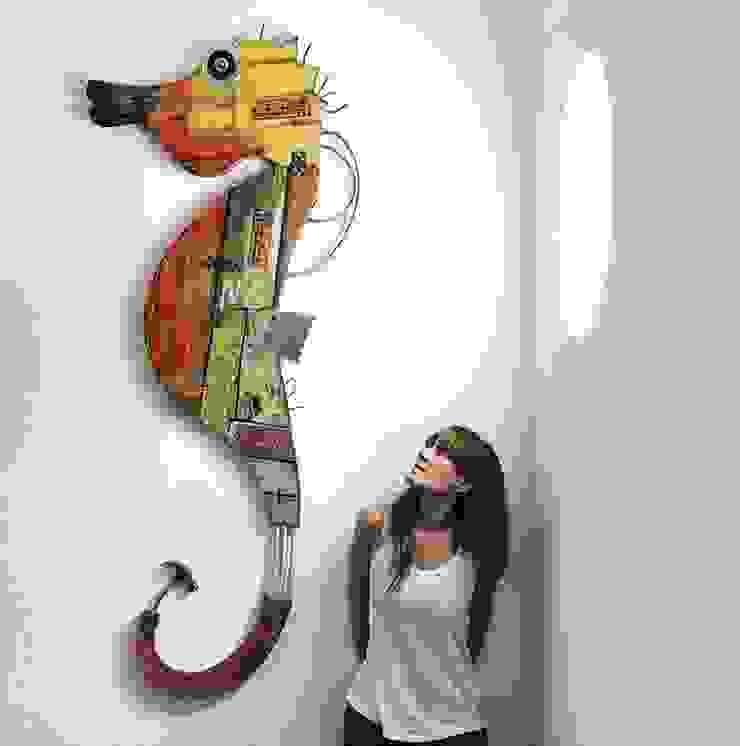 Officina Boarotto งานศิลปะแต่งบ้านรูปภาพและภาพวาด ไม้ Orange