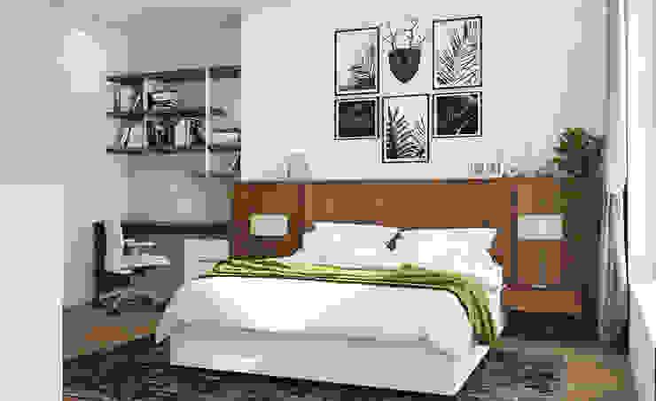 Cách 5: Trang trí phòng ngủ đơn giản với tranh ảnh: tối giản  by Kiến trúc Doorway, Tối giản MDF