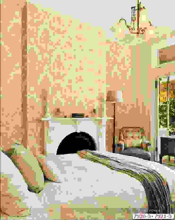 Cách 4: Trang trí phòng ngủ đơn giản với giấy dán tường: tối giản  by Kiến trúc Doorway, Tối giản OSB