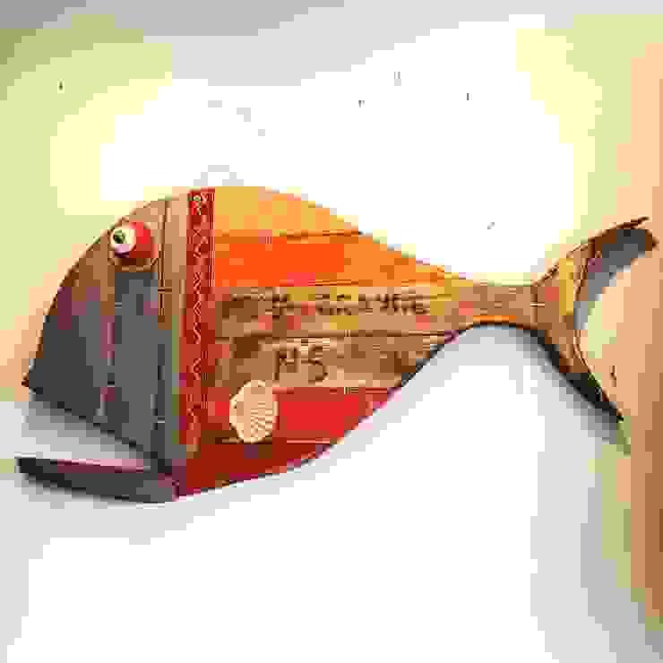 Officina Boarotto งานศิลปะแต่งบ้านรูปภาพและภาพวาด ไม้ Red