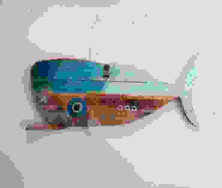Officina Boarotto งานศิลปะแต่งบ้านรูปภาพและภาพวาด ไม้ Blue
