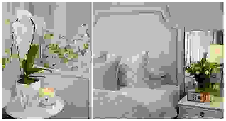 Luxury blue bedroom Classic style bedroom by Joseph Avnon Interiors Classic