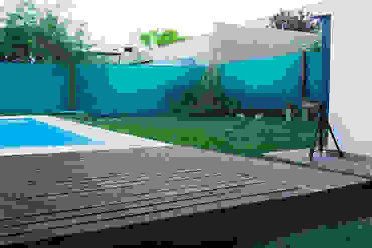 Minimalistyczny ogród od CLAUDIA BREPPE Minimalistyczny