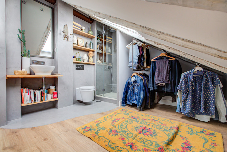 baños pequeños. Decorando tu espacio - interiorismo y reforma integral en Madrid. Vestidores de estilo moderno