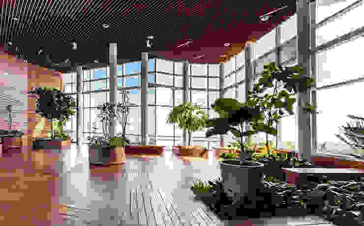 SKYGARDEN Jardines modernos de BODIN BODIN ARQUITECTOS Moderno
