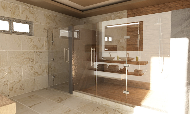 Remodelacion de Casa Habitación en Sonora OLLIN ARQUITECTURA OLLIN ARQUITECTURA Baños modernos
