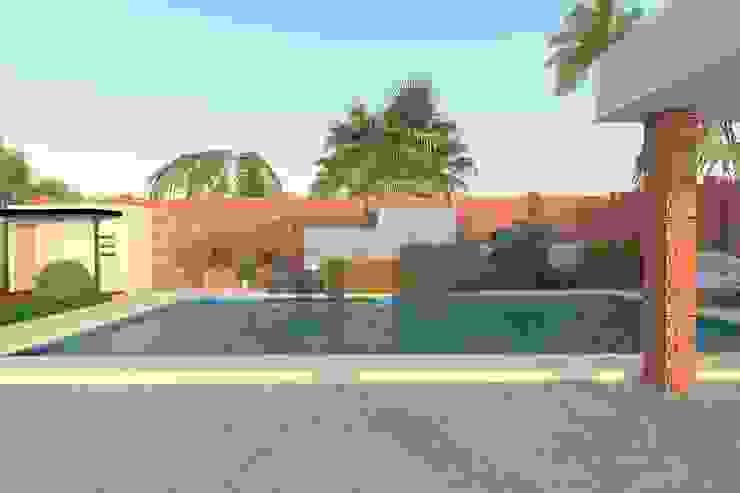 Remodelacion de Casa Habitación en Sonora OLLIN ARQUITECTURA OLLIN ARQUITECTURA Albercas de jardín