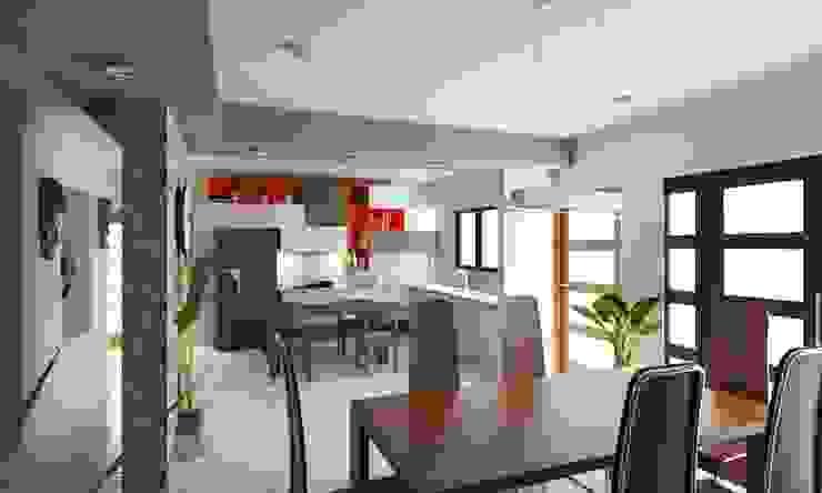 Remodelacion de Casa Habitación en Sonora OLLIN ARQUITECTURA OLLIN ARQUITECTURA Salones modernos