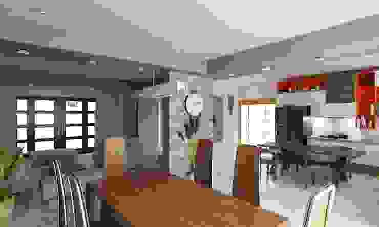 Remodelacion de Casa Habitación en Sonora OLLIN ARQUITECTURA OLLIN ARQUITECTURA Comedores modernos
