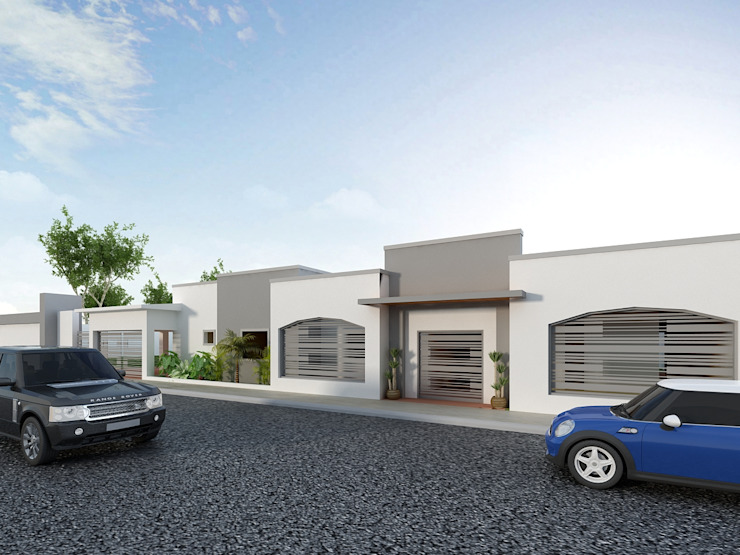 Remodelacion de Casa Habitación en Sonora OLLIN ARQUITECTURA OLLIN ARQUITECTURA Casas multifamiliares