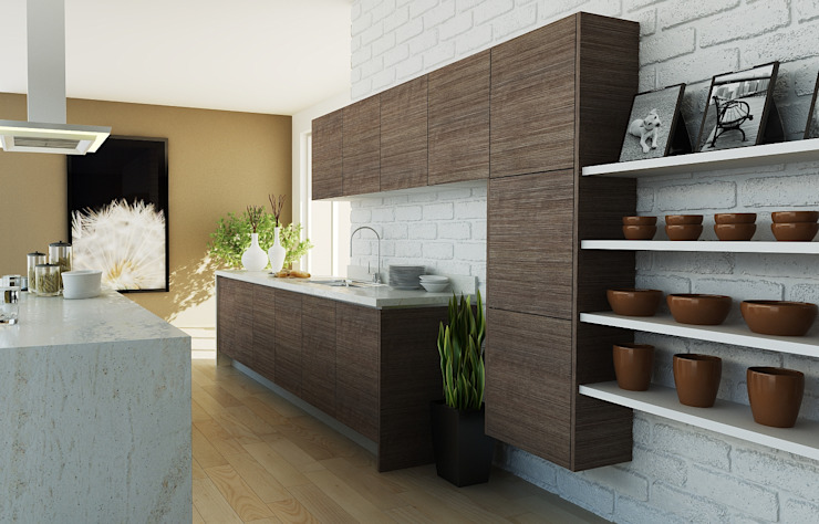 Calegra México Built-in kitchens Chipboard Multicolored