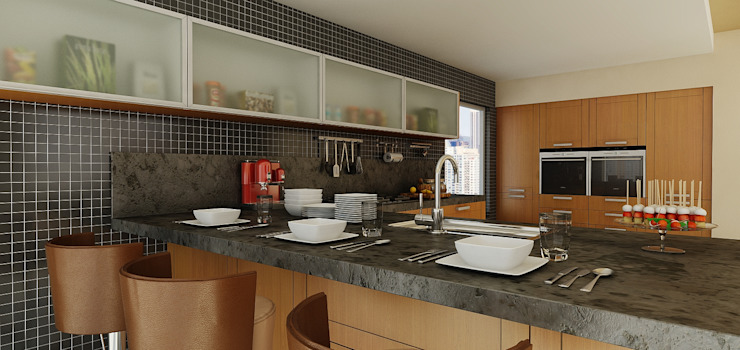 Calegra México Built-in kitchens Tiles Multicolored