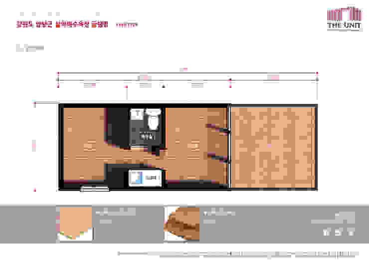 floor plan: 더유닛의 현대 ,모던