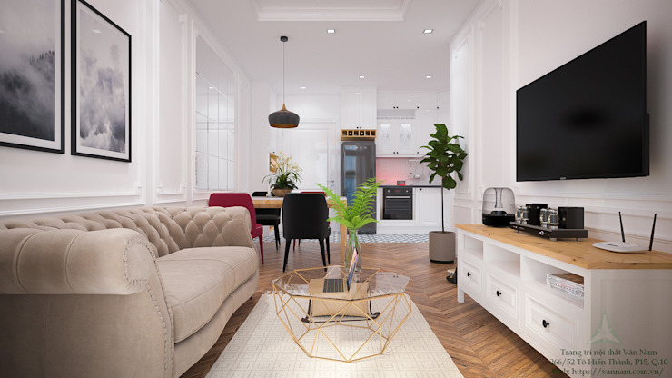 Modern Living Room by VAN NAM FURNITURE & INTERIOR DECORATION CO., LTD. Modern