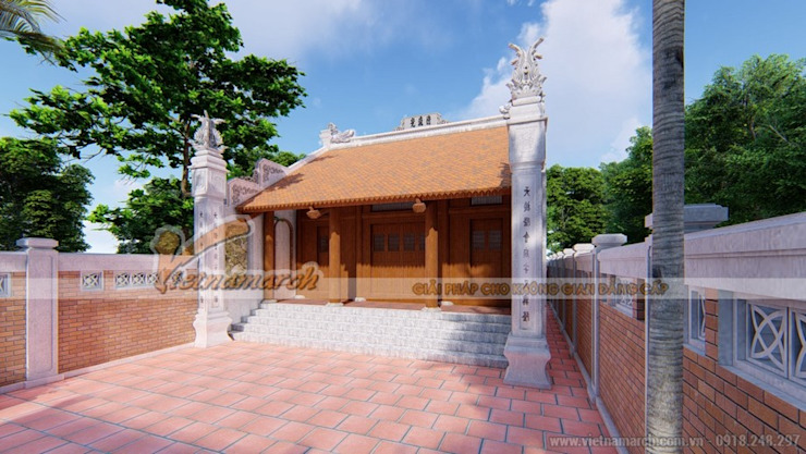 Nhà thờ họ tại Hải Dương bởi Công ty TNHH Xây dựng Vietnamarch Mộc mạc