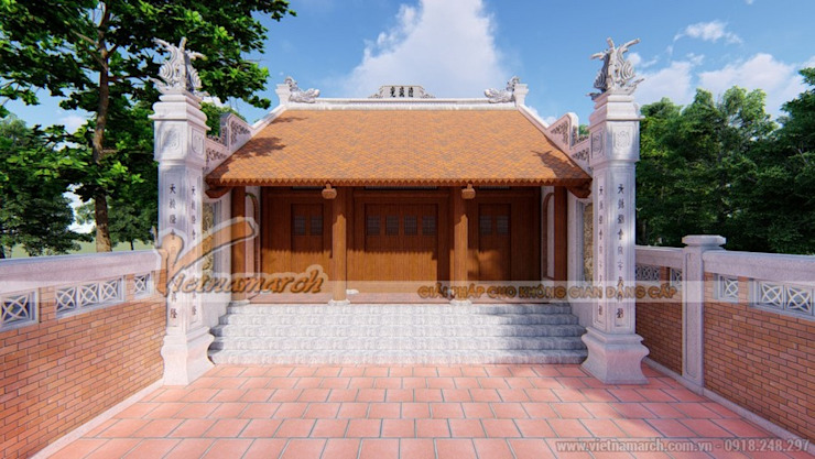 Nhà thờ họ tại Hải Dương bởi Công ty TNHH Xây dựng Vietnamarch Đồng quê