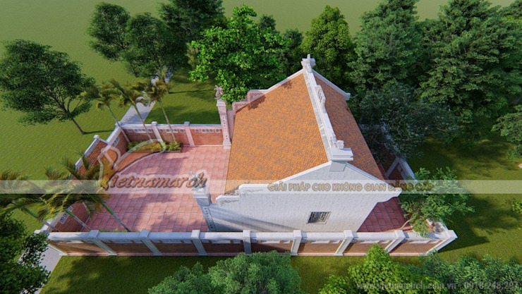 Nhà thờ họ tại Hải Dương Nhà phong cách mộc mạc bởi Công ty TNHH Xây dựng Vietnamarch Mộc mạc
