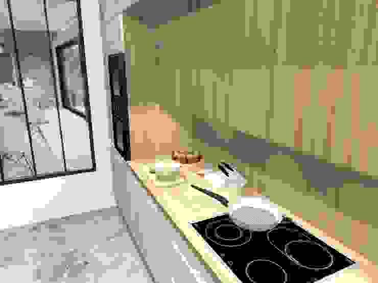 Ouverture d'esprit dans une cuisine contemporaine Cuisine moderne par Dessine-moi une Cuisine Moderne