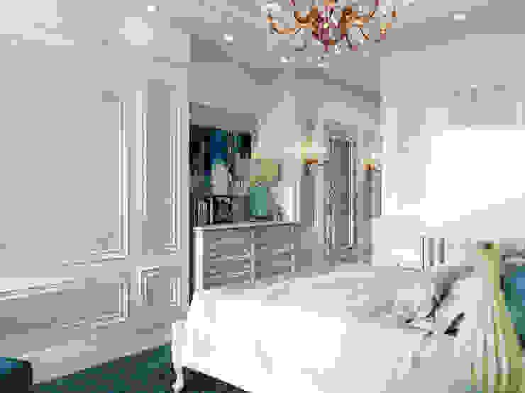 ห้องนอนขนาดเล็ก by Дизайн интерьера Киев|tishchenko.com.ua
