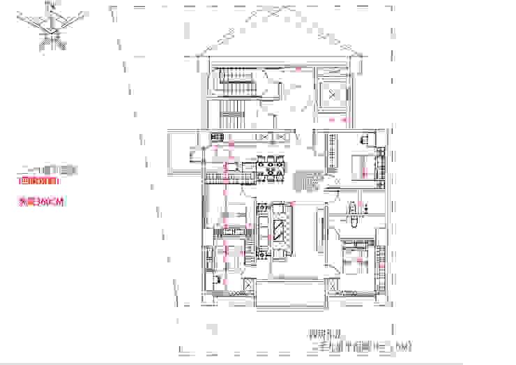 二~九樓平面圖 (四房規劃) 挑高360C 雲展建築設計 Winstarts Architectural Design Group