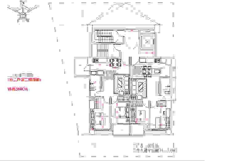 二~九樓平面圖 (分二戶各二房規劃) 挑高360C 雲展建築設計 Winstarts Architectural Design Group