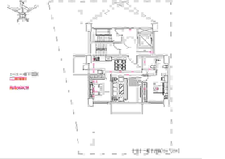 十~十一樓平面圖 (二房規劃) 挑高360CM 雲展建築設計 Winstarts Architectural Design Group