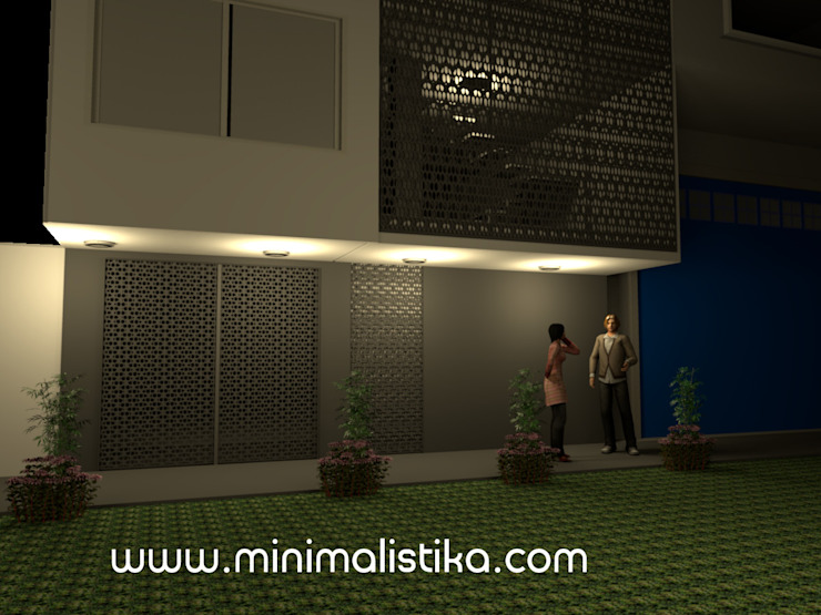 Minimalistika.com Multi-Family house Metal Grey