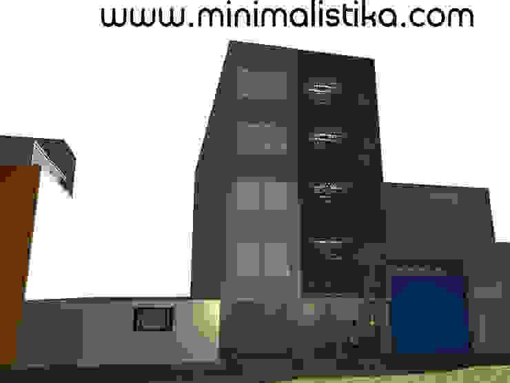 Diseño de Fachada Minimalista Edificio SMP Casas de estilo minimalista de Minimalistika.com Minimalista Metal